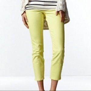 CAbi neon yellow jeans